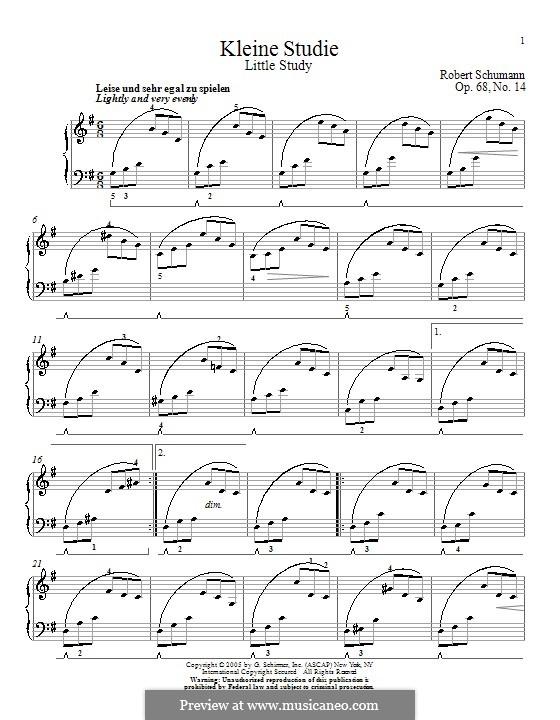 Nr.14 Kleine Studie: Für Klavier by Robert Schumann
