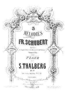 Drei Melodien, Op.79: Bearbeitung für Klavier by Franz Schubert