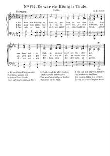 Es war ein König in Thule: Für Chor und Klavier by Carl Friedrich Zelter