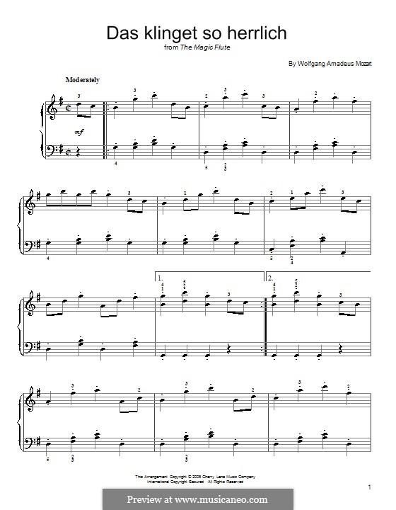 Das Klinget So Herrlich: Für Klavier by Wolfgang Amadeus Mozart