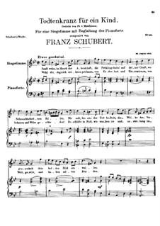 Totenkranz für ein Kind, D.275: G-moll by Franz Schubert