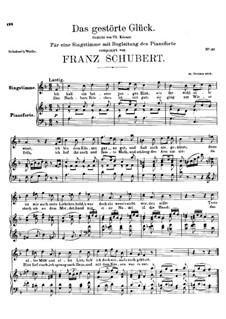 Das gestörte Glück, D.309: F-Dur by Franz Schubert