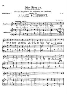 Die Sterne, D.313: B-Dur by Franz Schubert