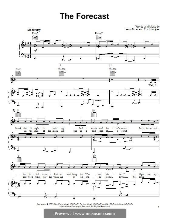 The Forecast: Für Stimme und Klavier (oder Gitarre) by Eric Hinojosa