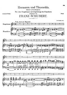 Hermann und Thusnelda, D.322: Klavierauszug mit Singstimmen by Franz Schubert