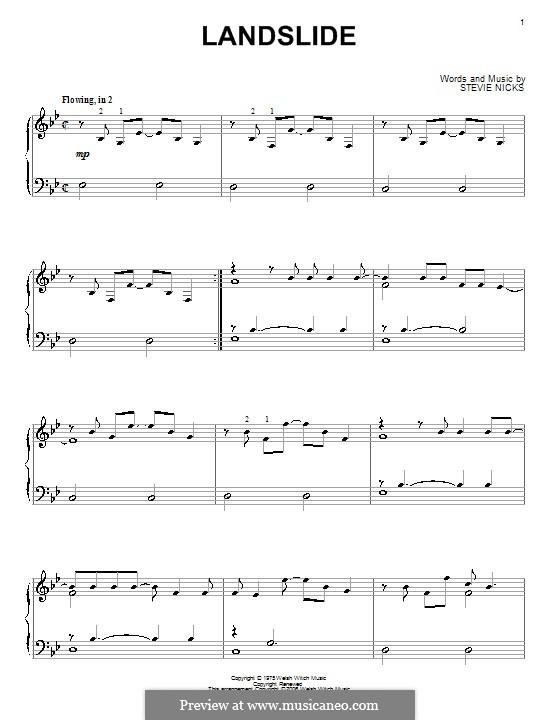 Landslide (Fleetwood Mac): Für Klavier by Stevie Nicks