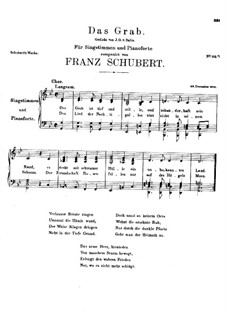 Das Grab, D.330: G-moll by Franz Schubert