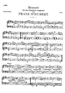 Menuett für Klavier in E-Dur, D.335: Menuett für Klavier in E-Dur by Franz Schubert