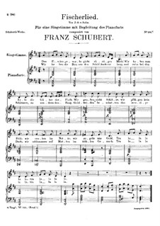 Fischerlied, D.351: D-Dur by Franz Schubert