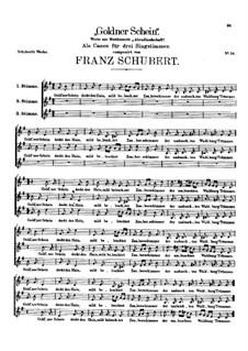 Goldner Schein, D.357: Goldner Schein by Franz Schubert