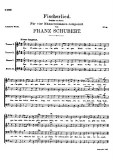 Fischerlied, D.364: Fischerlied by Franz Schubert
