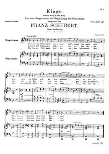 Klage (Trauer umfliesst mein Leben), D.371: H-moll by Franz Schubert