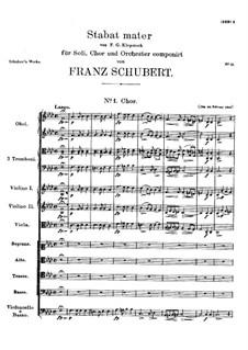 Stabat Mater in f-Moll, D.383: Stabat Mater in f-Moll by Franz Schubert