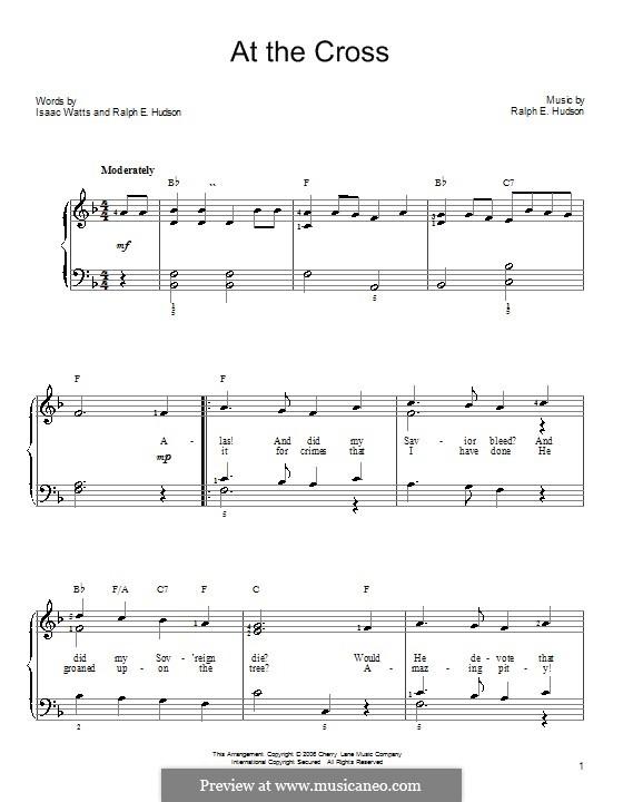 At the Cross: Für Klavier, leicht by Ralph E. Hudson