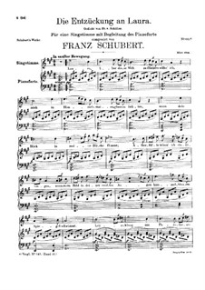 Die Entzückung an Laura, D.390: A-Dur by Franz Schubert