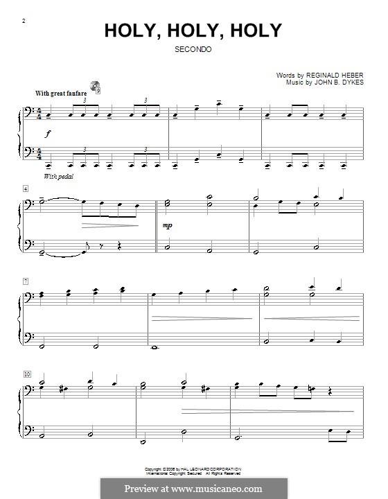 Heilig: Für Klavier, vierhändig by John Bacchus Dykes