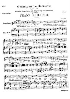 Gesang an die Harmonie, D.394: A-Dur by Franz Schubert