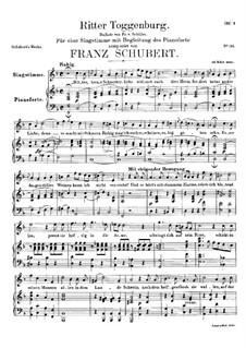 Ritter Toggenburg, D.397: Für Stimme und Klavier by Franz Schubert