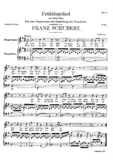 Frühlingslied, D.398: Für Stimme und Klavier by Franz Schubert