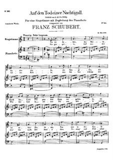 Auf den Tod einer Nachtigall, D.399: A-moll by Franz Schubert