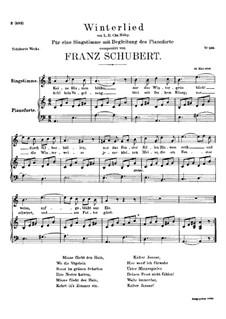 Winterlied, D.401: A-moll by Franz Schubert