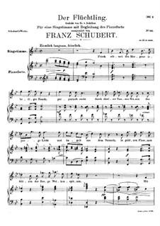 Der Flüchtling, D.402: B-Dur by Franz Schubert