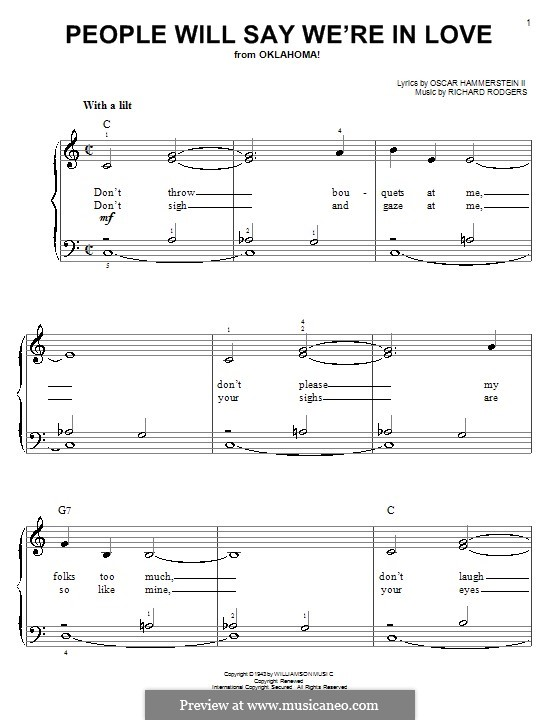People will Say We're in Love: Für Klavier, leicht by Richard Rodgers