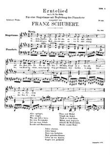 Erntelied, D.434: E-Dur by Franz Schubert