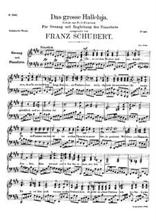 Das Grosse Halleluja, D.442: E-Dur by Franz Schubert