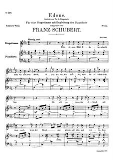 Edone, D.445: C minor by Franz Schubert