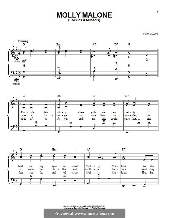 Molly Malone: Für Akkordeon by folklore