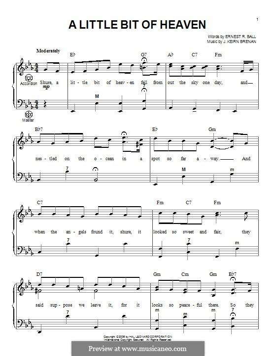 A Little Bit of Heaven: Für Akkordeon by Ernest R. Ball