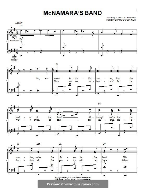 MacNamara's Band: Für Akkordeon by Shamus O'Connor