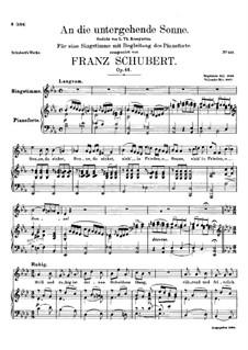 An die untergehende Sonne, D.457 Op.44: Es-Dur by Franz Schubert
