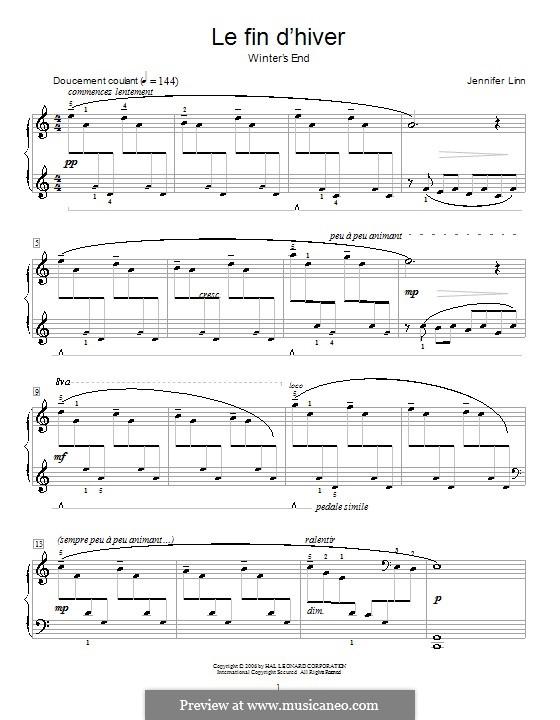 Le fin d'hiver (Winter's End): Für Klavier by Jennifer Linn
