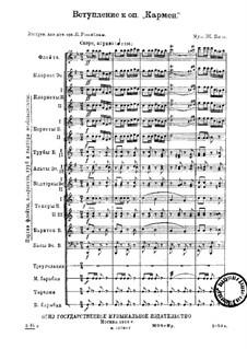 Vollständiger Oper: Ouvertüre by Georges Bizet