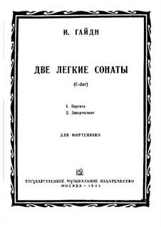 Zwei leichte Sonaten: Zwei leichte Sonaten by Joseph Haydn