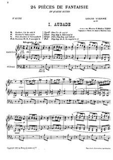 Suite Nr.4 für Orgel, Op.55: Für einen Interpreten by Louis Vierne