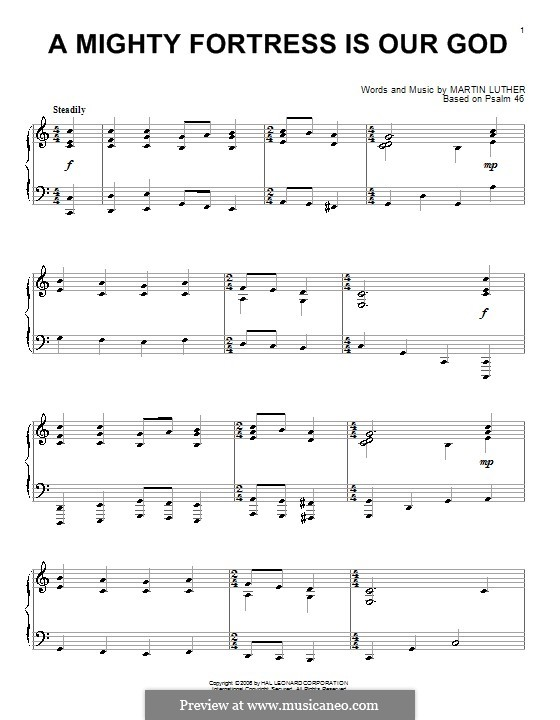 Ein feste Burg ist unser Gott: Für Klavier by Martin Luther
