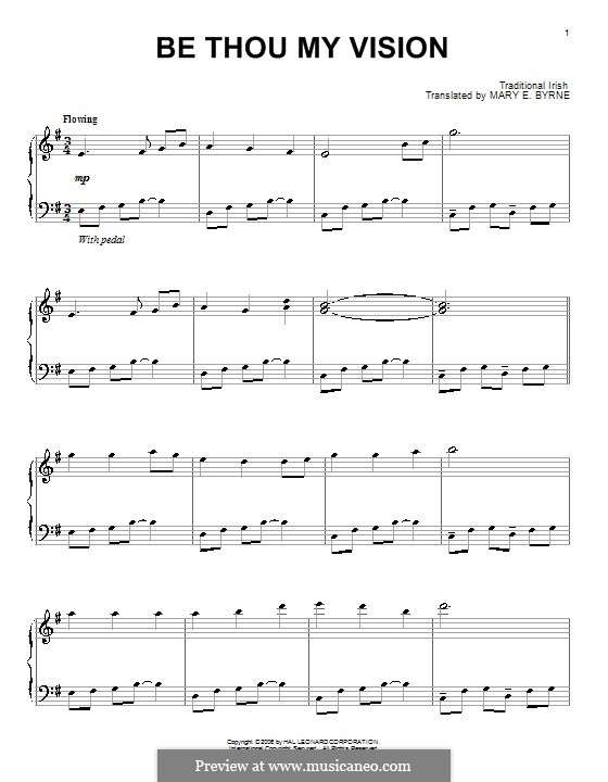 Be Thou My Vision (Printable scores): Für Klavier by folklore