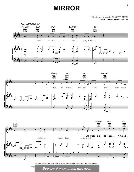 Mirror (Ne-Yo): Für Stimme und Klavier (oder Gitarre) by Robert Shea Taylor, Ne-Yo