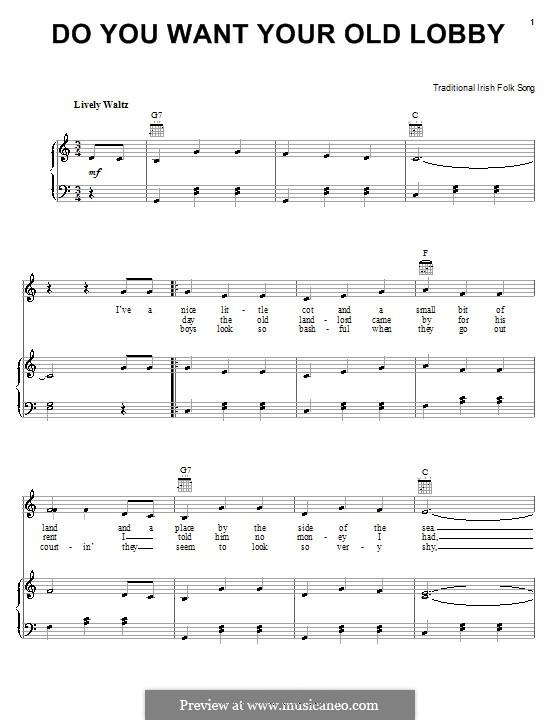 Do You Want Your Old Lobby: Für Stimme und Klavier (oder Gitarre) by folklore