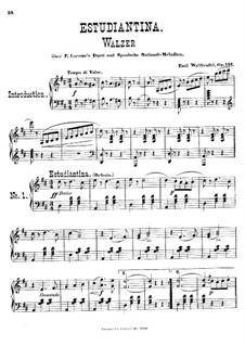 Estudiantina, Op.191: Für Klavier by Emil Waldteufel
