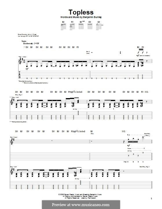Topless (Breaking Benjamin): Für Gitarre mit Tabulatur by Benjamin Burnley
