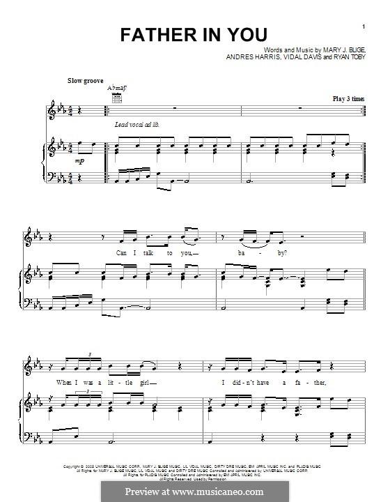Father in You: Für Stimme und Klavier (oder Gitarre) by Andre Harris, Ryan Toby, Vidal Davis