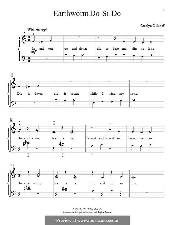 Earthworm Do-Si-Do: Für Klavier by Carolyn C. Setliff