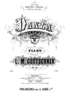 Der Tanz, Op.33: Für Klavier by Louis Moreau Gottschalk
