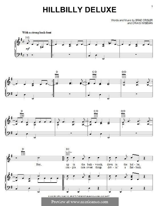 Hillbilly Deluxe (Brooks & Dunn): Für Stimme und Klavier (oder Gitarre) by Brad Crisler, Craig Wiseman