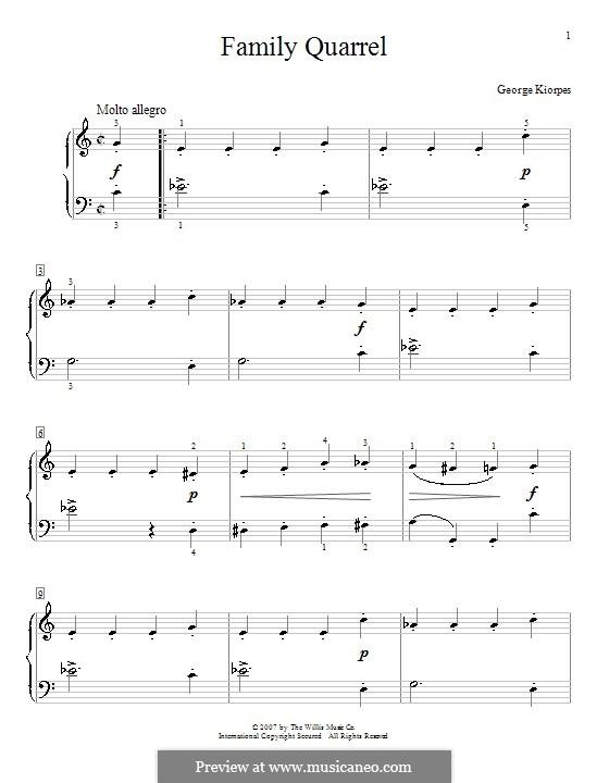 Family Quarrel: Für Klavier by George Kiorpes