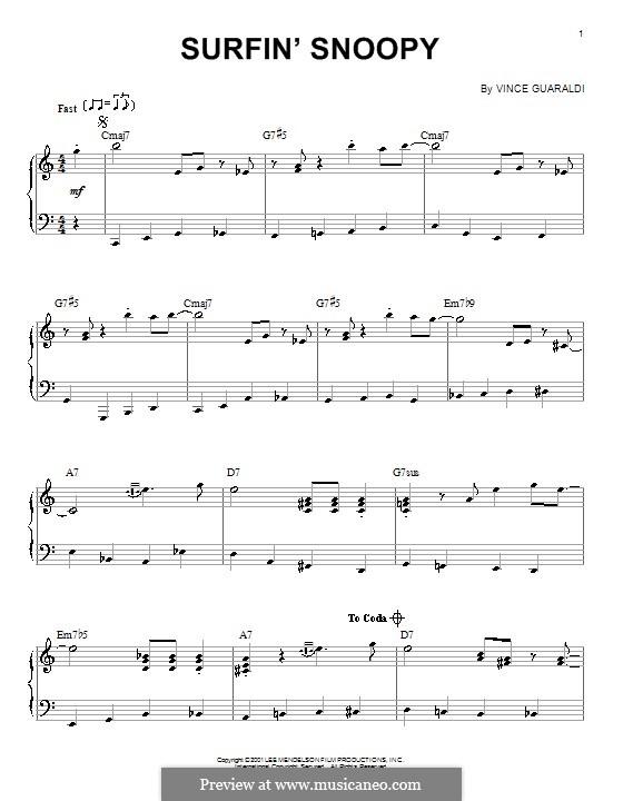 Surfin' Snoopy: Für Klavier by Vince Guaraldi